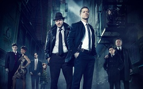 Картинка Action, TV Series, Crime, Drama, Gotham, Ben McKenzie as James Gordon, Donal Logue as Harvey …