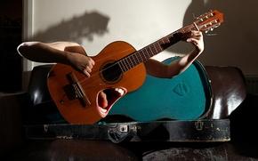 Картинка музыка, гитара, монтаж