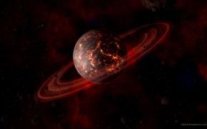 Картинка космос, планета, сатурн