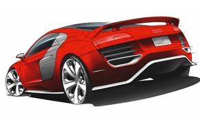 Картинка Audi, купе, R8