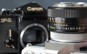 Картинка фотоаппарат, широкоформатные, широкоэкранные, фон, объектив, widescreen, Canon, HD wallpapers, обои, lens, полноэкранные, background, wallpaper, fullscreen, ...