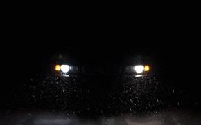 Картинка ночь, BMW, 7 series, E38