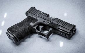 Картинка пистолет, оружие, фон, Glock 19, Mark 1