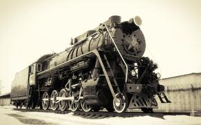 Картинка Паровоз, памятник, локомотив