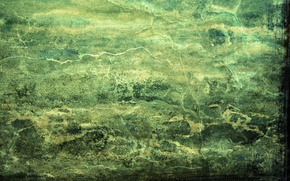 Картинка линии, трещины, стена, краска, зеленый фон