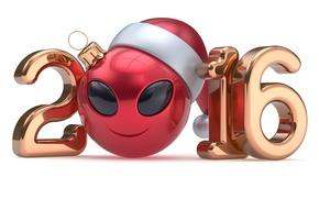 Картинка Новый Год, цифры, smiley, New Year, ball, Happy, 2016