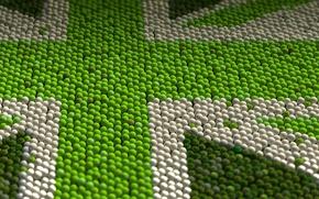 Картинка узор, флаг, Великобритания, теннисный мяч