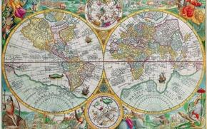 Картинка мир, рисунок, Карта, материки