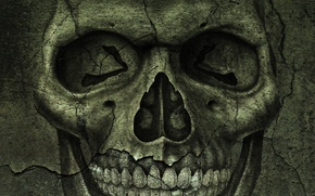Картинка трещины, череп, текстура