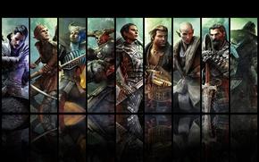Картинка Герои, Кассандра, Коул, Dragon Age Inquisition, Солас, Варрик, Железный бык, Блэкуол, Сера, Дориан, Вивьен, Соратники