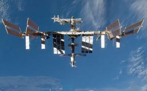 Обои space, МКС, sky