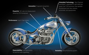Обои Orange County Choppers, Intel, Chopper