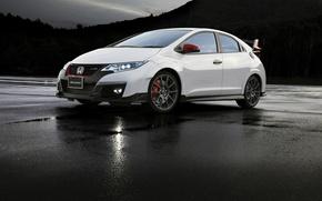Обои Civic, хонда, цивик, Modulo, Type R, Honda, белая