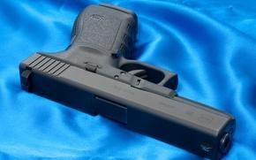 Картинка Синий, Пистолет, Обои, Оружие, Glock, Wallpapers, Austria, Weapons, Глок 20