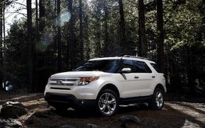 Картинка серый, внедорожник, ford, explorer, ford explorer