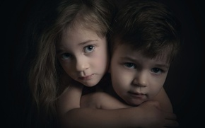 Картинка Love, портрет, мальчик, девочка, брат, сестра