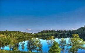 Картинка небо, природа, озеро, германия, Ellscheid