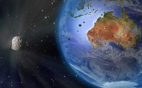 Картинка Australia, meteorite, planet Earth