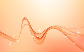 Обои волна, минимализм, вектор, изгибы, Фон