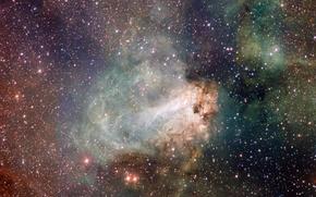 Картинка звезды, туманность, Лебедь, Стрелец, созвездие, Омега