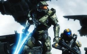 Картинка солдат, шлем, броня, Master Chief, Halo 5: Guardians, halo 5