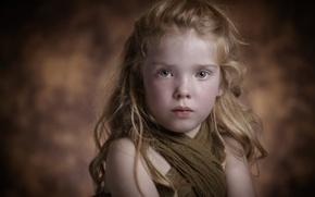 Картинка портрет, рыжеволосая девочка, Kaylie