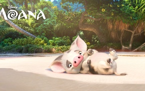 Картинка kawaii, cinema, wallpaper, beach, island, sand, cartoon, movie, animal, film, cute, drawing, Walt Disney Pictures, …