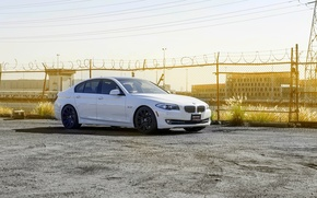 Картинка BMW, 535i, F10. white, XO Wheels