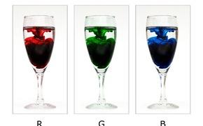 Картинка минимализм, бокалы, RGB