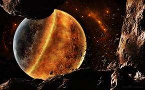 Картинка обломки, катастрофа, метеориты