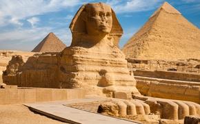 Картинка Египет, пирамиды, египетский пейзаж