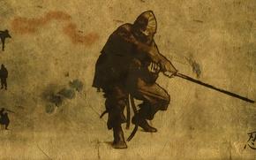Картинка оружие, фон, ниндзя, ninja
