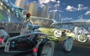 Обои volkswagen, concept, будущее, дизайн