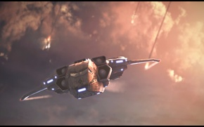 Картинка flight, jet, xcom, xcom: enemy unknown, xcom: enemy within, dropship