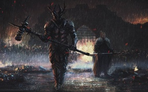 Картинка fire, flame, sword, war, ken, wolf, death, A Song of Ice and Fire, Game of ...