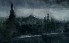 Картинка Кремль, Арт, Метро 2033
