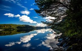 Картинка небо, облака, горы, Норвегия, Norway, Ålesund, Alesund, More og Romsdal, Мёре-ог-Румсдал
