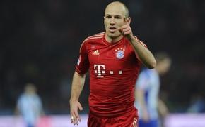 Картинка Бавария, футболист, Роббен, Football, Лига Чемпионов, Netherlands, Goal, Bayern Munich, Arjen Robben, Robben