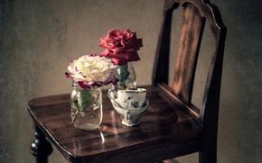 Картинка цветы, розы, лепестки, натюрморты