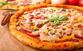 Обои вкуснятина, pizza, wallpapers, еда, пицца