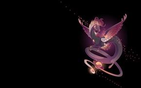 Картинка космос, ночь, дракон, планета, арт, fantasy, mythka