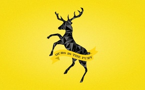 Картинка black, A Song of Ice and Fire, Game of Thrones, deer, House Baratheon, Ours is …