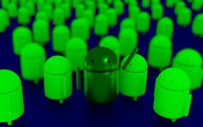 Картинка Android, logo, render, Blender