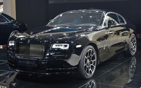 Картинка Rolls-Royce, автосалон, Rolls-Royce Wraith Black Badge