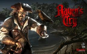 Картинка Шляпа, Пират, Плащ, Сабля, Лучи Света, Кинжал, Крючок, TopWare Interactive, Octane Games, Raven's Cry