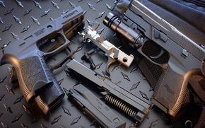 Картинка пистолеты, обойма, затвор, sig sauer, P250