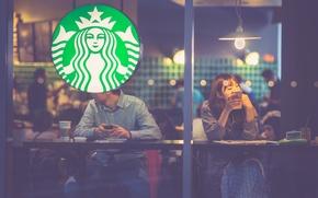 Обои Sony, arabica, robusta, coffee, people, Starbucks, matte, iPhone, glass