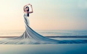 Картинка девушка, берег, платье, genesis