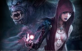 Картинка маг, огр, dragon age origins