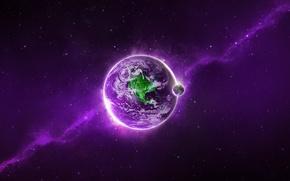 Картинка light, planet, violet, Sci FI